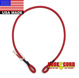 "(1/4"") CUSTOM PICK A HOOK STANDARD DUTY (#9005) USA MADE BUNGEE CORD (BY THE INCH) LOOP END TO LOOP END • (Hooks Not Included)"