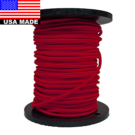 "8mm (5/16"") NYLON BULK COLORED BUNGEE CORD BY THE ROLL (300')"