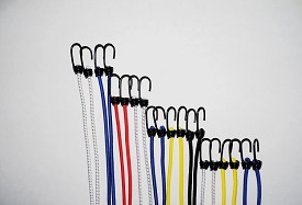 "(5/16"") HEAVY DUTY SPRING HOOK BUNGEE CORDS - PACK of 20 - MULTIPLE SIZES & COLORS"