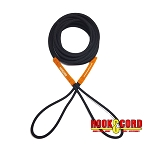 BOAT LINES & DOCK TIES - Boat Line Rope Bungee Cord 25' Line, Stretches to 50', Heavy Duty Boat Line, Used for Launching / Retrieving Boats