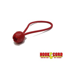 "25mm 6"" TOGGLE BALL LOOPED BUNGEE CORD - RED"