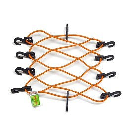 "1/4"" STANDARD DUTY CARGO NET 15""x12"" • 10 SIQCN ""SECURE IT QUICK CARGO NET"" HOOKS"