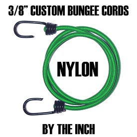 "3/8"" CUSTOM BUNGEE CORDS • BY THE INCH"