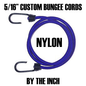 "5/16"" CUSTOM NYLON BUNGEE CORDS • BY THE INCH"